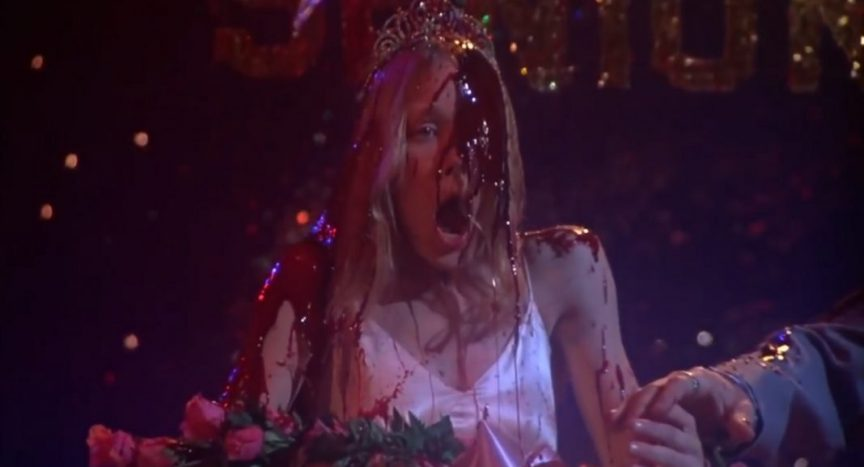 Carrie - the story behind the shot of that iconic prom scene.......