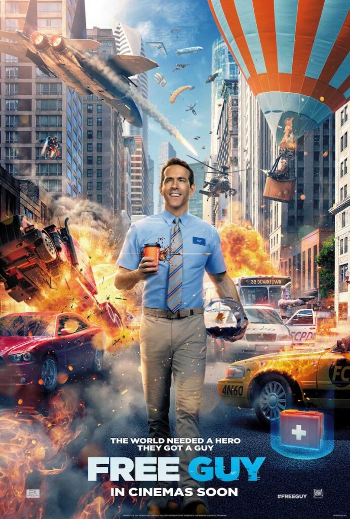 Free Guy - Ryan Reynolds & Jodie Comer in virtual reality action!